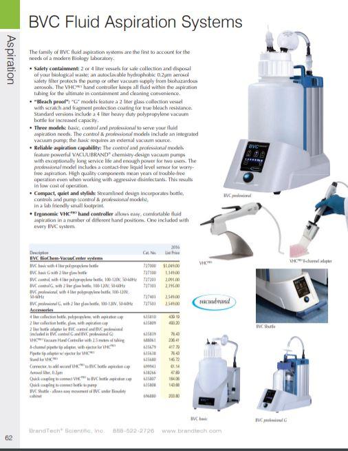 BrandTech BVC Fluid Aspiration System